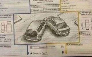 Как нарисовать схему ДТП при аварии без сотрудников ГИБДД